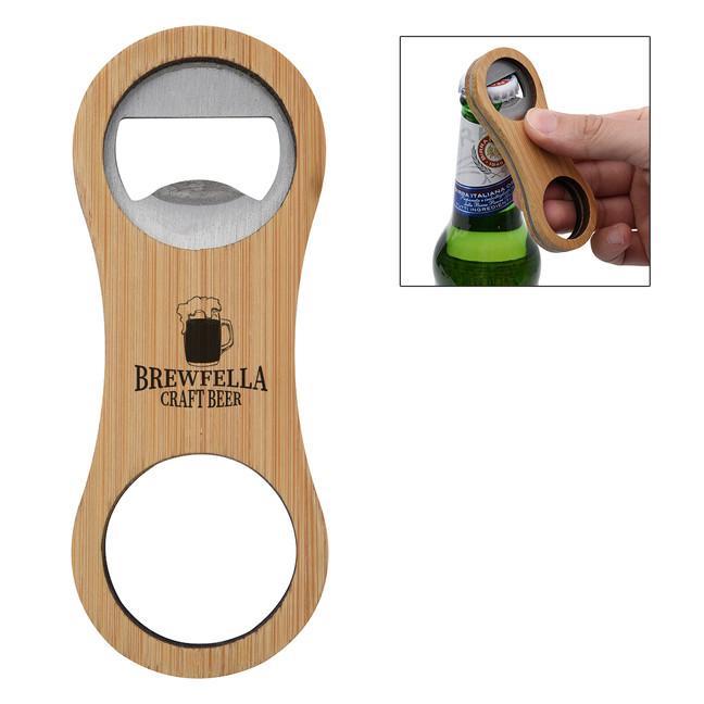 Branded Bamboo Bottle Opener