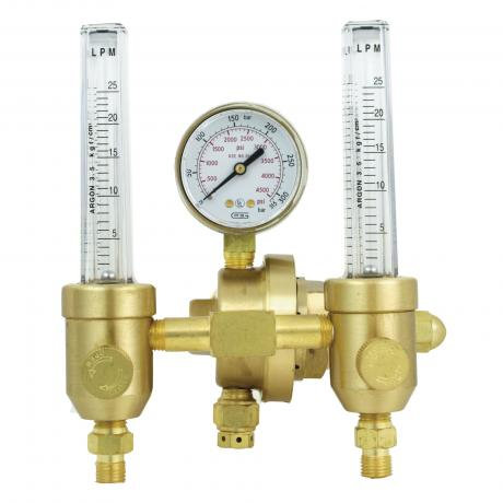 Gentec Argon Regulator c/w Dual Flowmeter