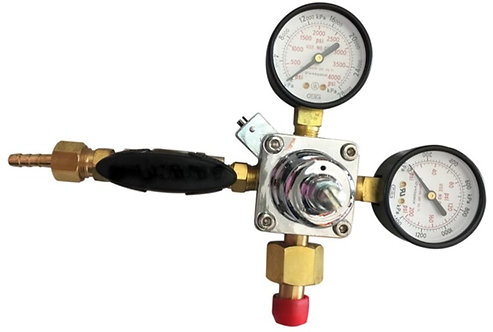 Gentec Food Grade CO2 regulator with 2 gauge
