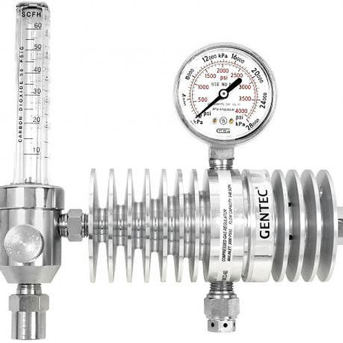 Gentec CO2 Regulator c/w Flowmeter & Radiator