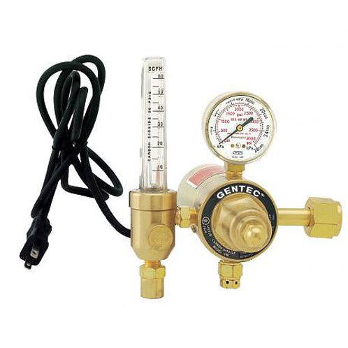 Gentec CO2 Regulator c/w Flowmeter & Heater