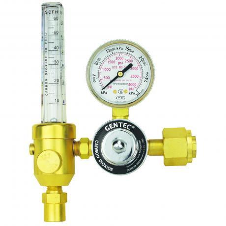 Gentec Heavy Duty Argon Regulator c/w Flowmeter