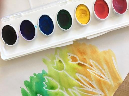 Wax-Resist Watercolor Cards