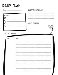 Daily Plan Printable