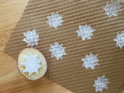 9 Pointed Star Potato Stamp