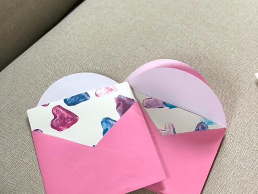 Potato Stamped Greeting Cards
