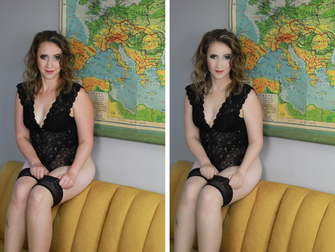 *Before* and AFTER retouching!
