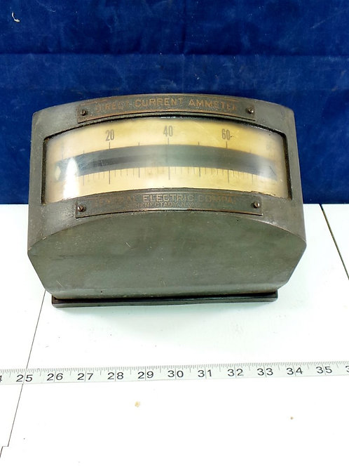General Electric Direct Current Ammeter Gauge