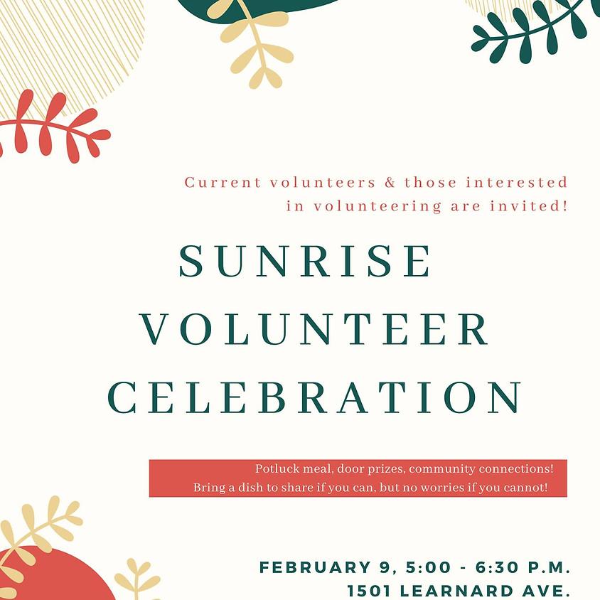 Sunrise Volunteer Celebration