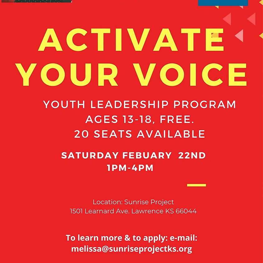 Activate Your Voice:  Youth Lead