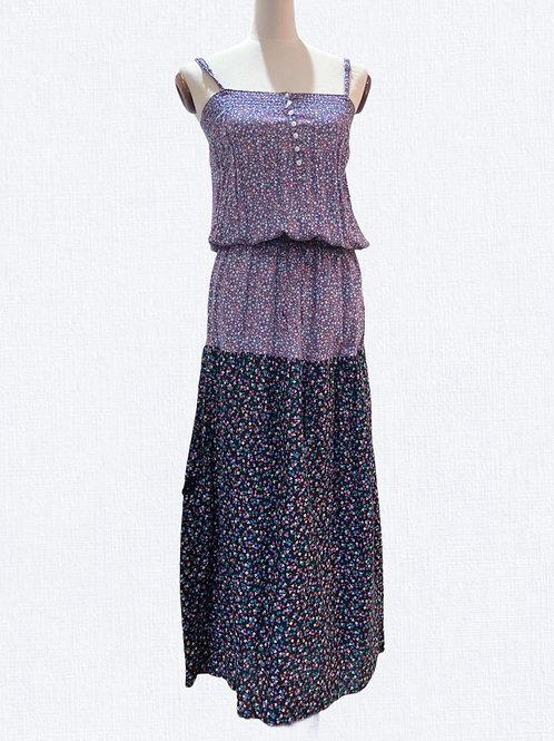 Spliced Floral Maxi Dress