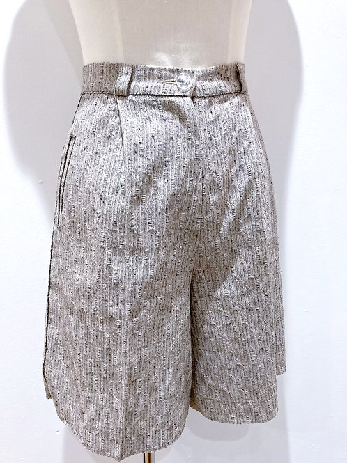 High Waisted Shorts with Hand Sewn Beadwork