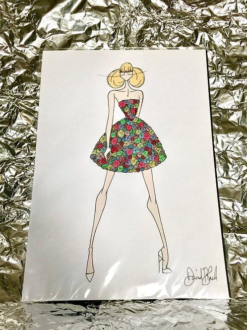 Floral Dress Illustration