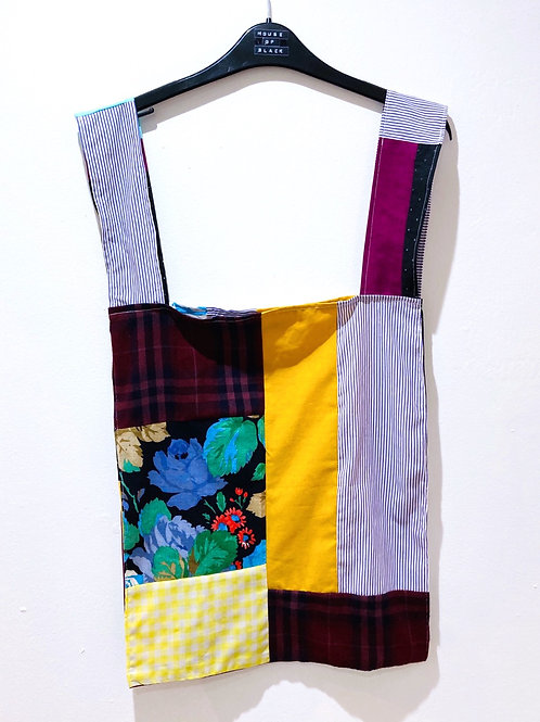 "Patchwork ""Plastic"" Shopping Bag"