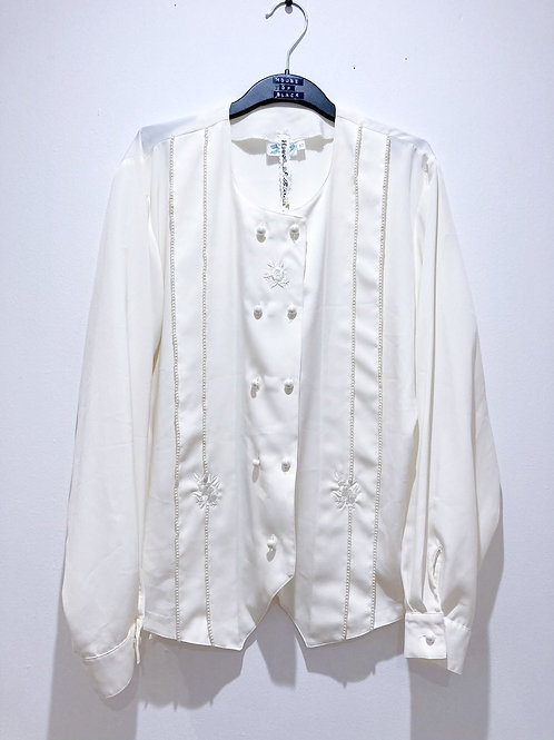 Vintage Blouse with Hand Sewn Beadwork