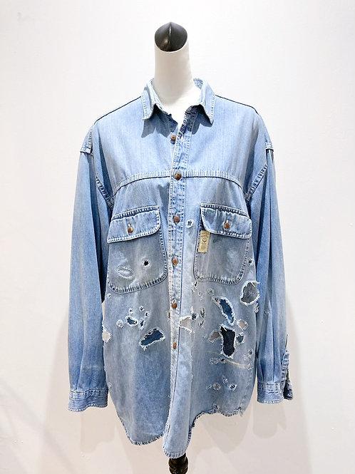 Repaired Denim Painter's Shirt