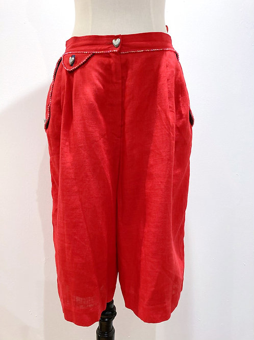 Red Beaded Culottes