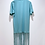 Thumbnail: Green T-shirt Dress with Recycled T-shirt Fringe