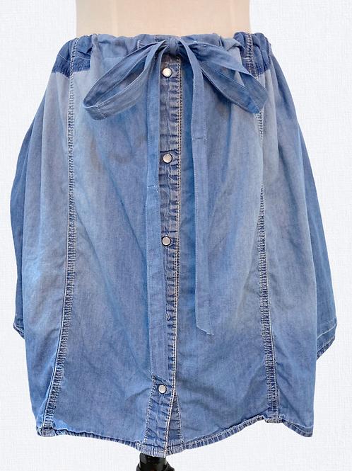 Denim Drawstring Shirt/Skirt