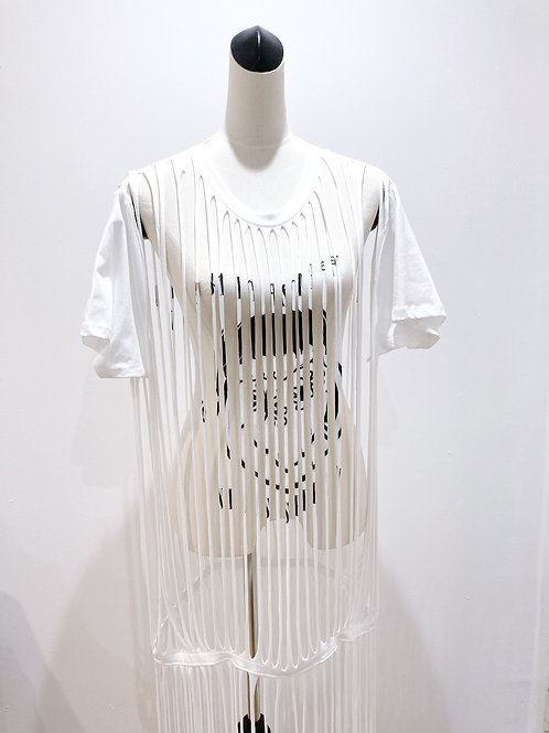 Misprinted Fringe T-shirt Dress