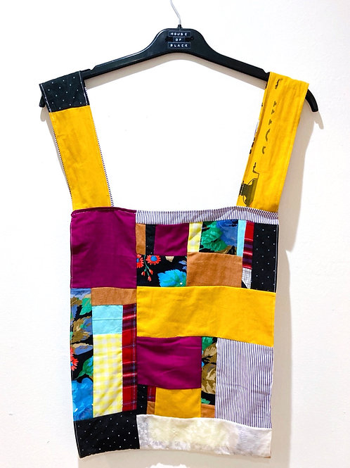 "Patchwork ""Plastic"" Shopping Bag"