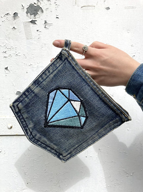 Recycled Denim Jean Pocket Purse/Pouch