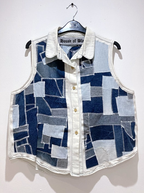 Reclaimed Denim Patchwork Shirt