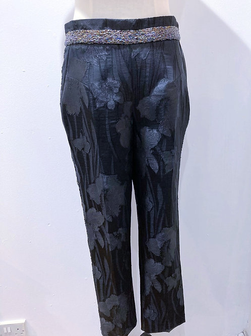 Trousers with Hand Sewn Beadwork