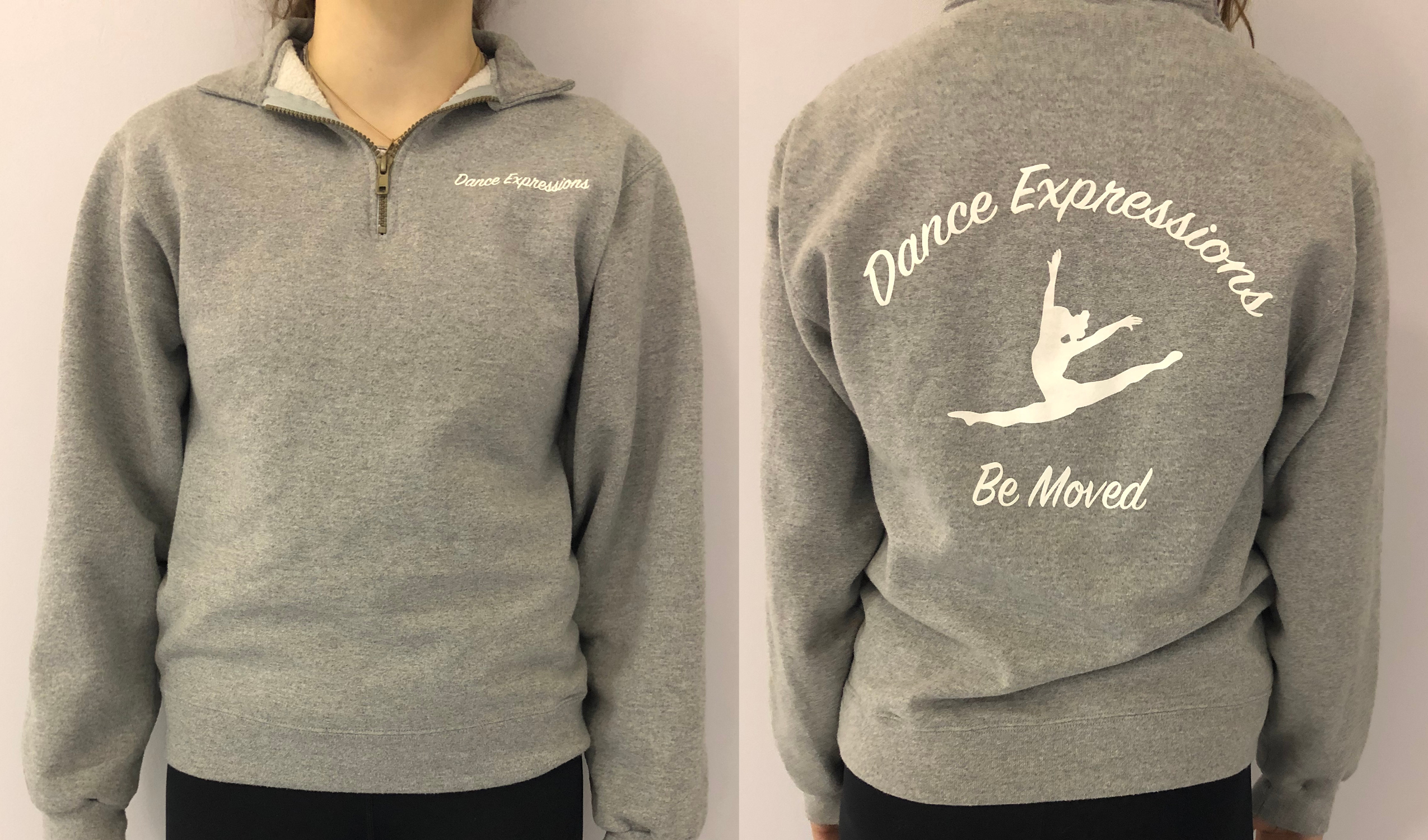 Grey 3/4 Zip Pull Over