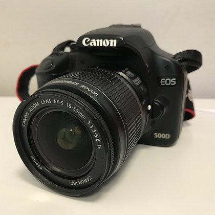 Canon EOS 500D + EF-S 18-55mm IS + accessori
