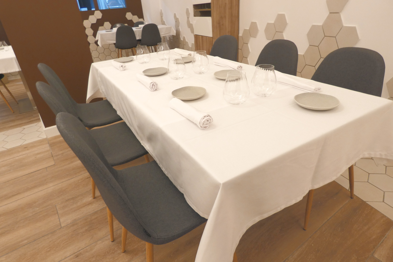 Detalle de mesa grupal