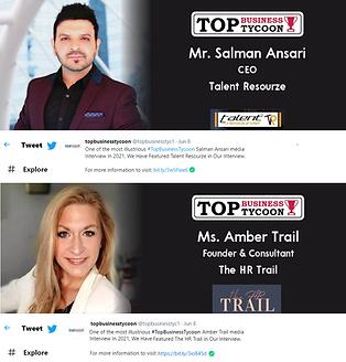 Top Business Tycoon 2021 - Salman Ansari