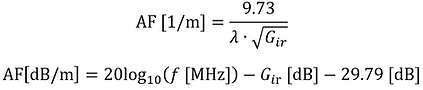antenna factor calculation