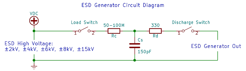 ESD gun simulator circuit diagram