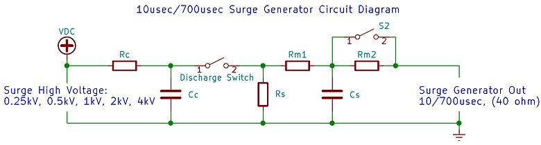 61000-4-5 surge generator 10/700