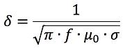 skin depth formula