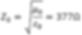 Characteristic impedance free-space