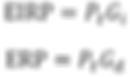 EIRP vs ERP formula