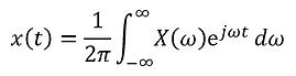 Inverse Fourier transform formula