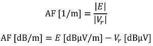 antenna factor formula