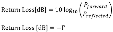 return loss formula dB
