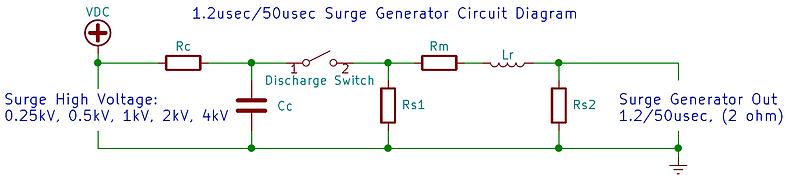 61000-4-5 surge generator 1.2/50