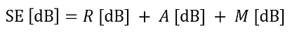 shielding effectiveness formula