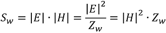 power density of electromagnetic wave