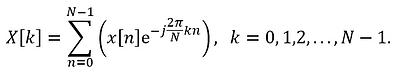 Discrete Fourier Transform (DFT) formula