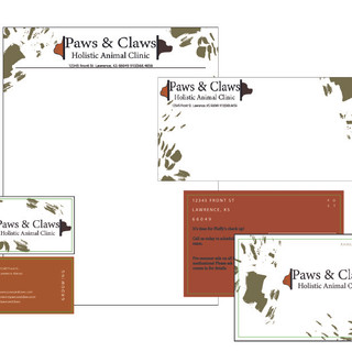 Stationary pieces for Paws & Claws