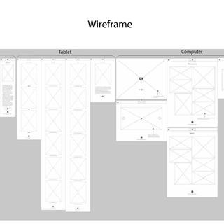 Wireframe sketches for Pasta Amore