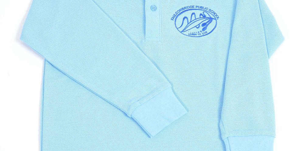 Embroidered Long Sleeve Polo Shirt