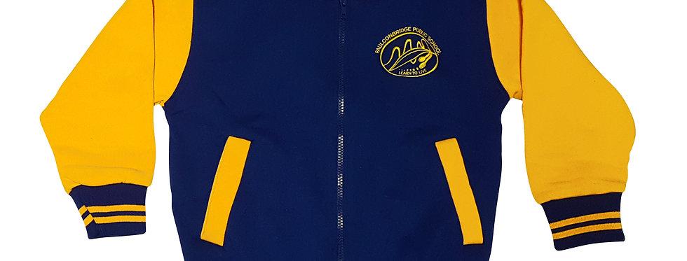 Embroidered Fleecy Zip Jacket