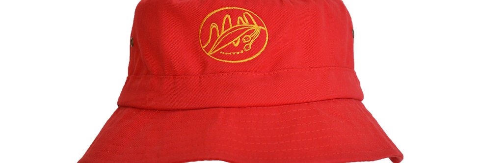 Embroidered Bucket Hat for Medical Condition - Red